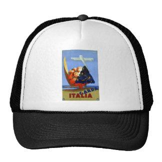 Vintage Garda Italy Europe Air Travel Trucker Hat
