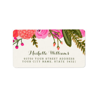 Vintage Garden Address Labels