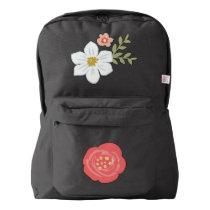 Vintage Garden  American Apparel™ Backpack, Black Backpack
