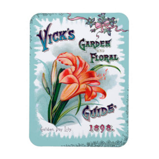 Vintage Garden and Floral Seed Cover Rectangular Magnets