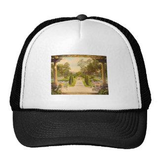 Vintage Garden Art - Beautiful Gardens of America Trucker Hat