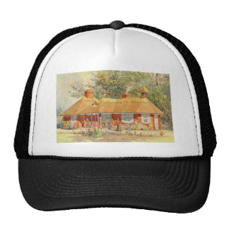 Vintage Garden Art - Beautiful House Trucker Hat