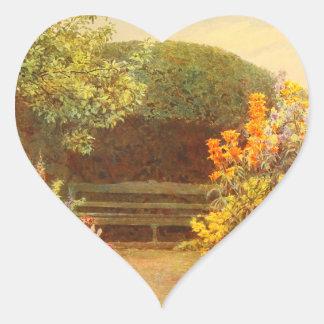 Vintage Garden Art - Elgood, George S. Heart Sticker