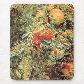 Vintage Garden Art, Pomegranates II by Sargent Mouse Pad