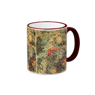 Vintage Garden Art, Pomegranates II by Sargent Ringer Coffee Mug