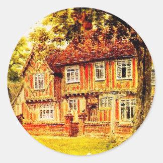 Vintage Garden Art - Quinton, Alfred Classic Round Sticker