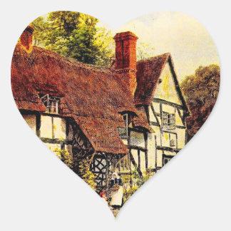 Vintage Garden Art - Quinton, Alfred Heart Sticker