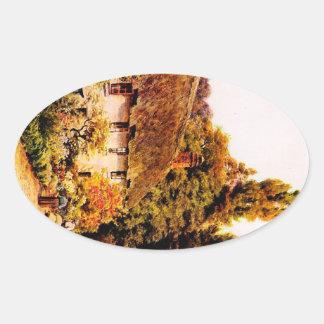 Vintage Garden Art - Quinton, Alfred Oval Sticker