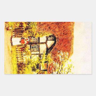 Vintage Garden Art - Quinton, Alfred Rectangular Sticker