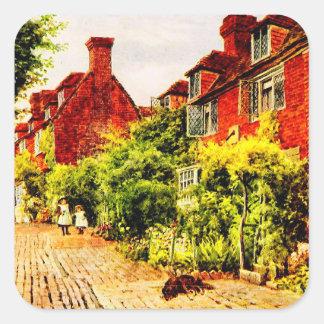 Vintage Garden Art - Quinton, Alfred Square Sticker
