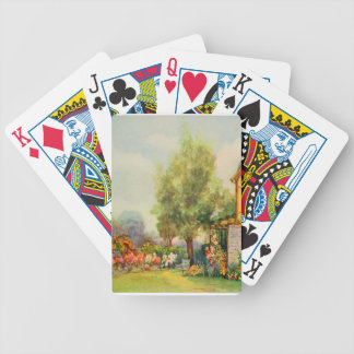 Vintage Garden Art - Steele, Zulma deL. Bicycle Playing Cards