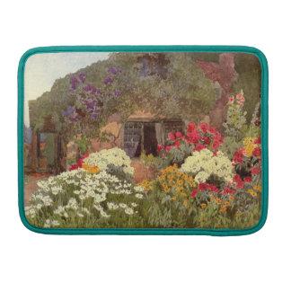 Vintage Garden Art - Wallis, Rosa MacBook Pro Sleeves