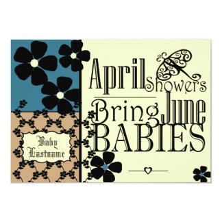 Vintage Garden Baby Shower Card