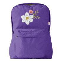 Vintage Garden Backpack, Amethyst American Apparel™ Backpack