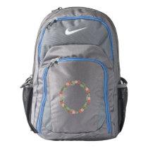 Vintage Garden  Backpack, Dark Grey/Military Blue Backpack