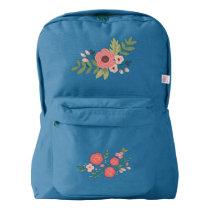 Vintage Garden Backpack, Royal Blue American Apparel™ Backpack