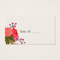 Vintage Garden Blank Wedding Place Cards 100 Pk at Zazzle