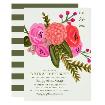 Vintage Garden Bridal Shower Card by origamiprints at Zazzle