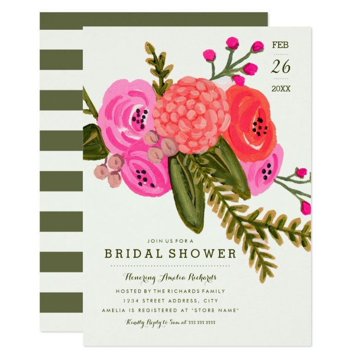 Vintage Garden Bridal Shower Card Zazzle