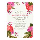 "Vintage Garden Bridal Shower 5"" X 7"" Invitation Card"