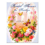 "Vintage Garden Bridal Shower 4.25"" X 5.5"" Invitation Card"