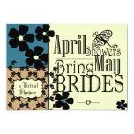 Vintage Garden Bridal Shower 5x7 Paper Invitation Card