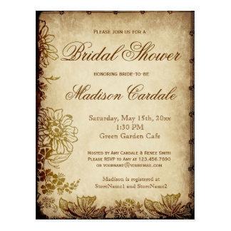 Vintage Garden Bridal Shower Invite POSTCARDS