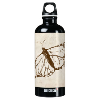 Vintage Garden Butterfly Aluminum Water Bottle