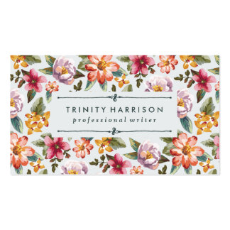 Vintage Garden | Floral Double-Sided Standard Business Cards (Pack Of 100)