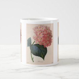 Vintage Garden Flowers, Pink Hydrangea Hortensia Giant Coffee Mug