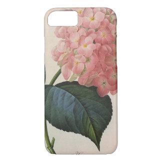 Vintage Garden Flowers, Pink Hydrangea Hortensia iPhone 8/7 Case