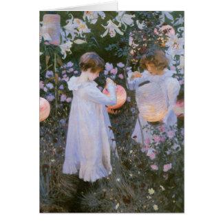 Vintage Garden Girls Card