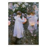 Vintage Garden Girls Note Card