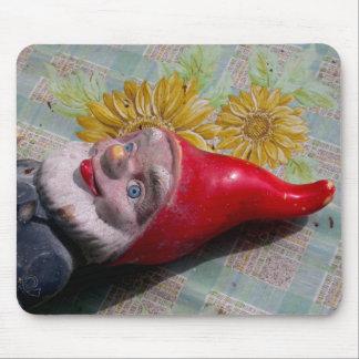 Vintage Garden Gnome Mouse Pad