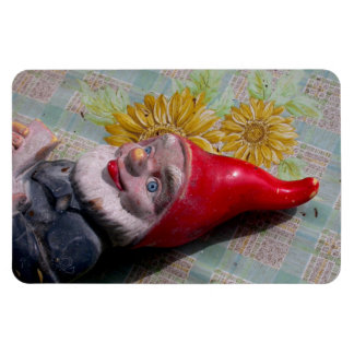 Vintage Garden Gnome Rectangular Photo Magnet