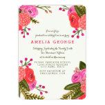 "Vintage Garden Graduation 5"" X 7"" Invitation Card"