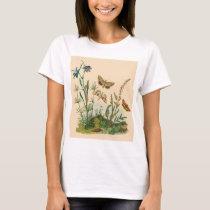 Vintage Garden Insects, Butterflies, Caterpillars T-Shirt