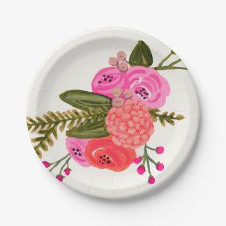 Vintage Garden Paper Plate