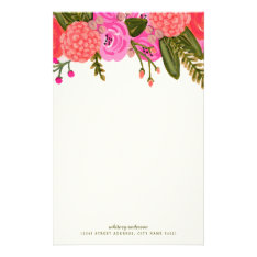 Vintage Garden Personalized Stationery at Zazzle