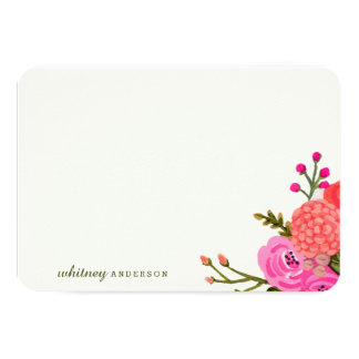 Vintage Garden Personalized Stationery 3.5x5 Paper Invitation Card