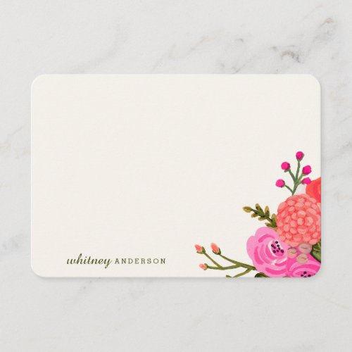 Vintage Garden Personalized Stationery Note Card