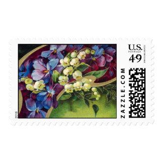 Vintage Garden Postage Stamps