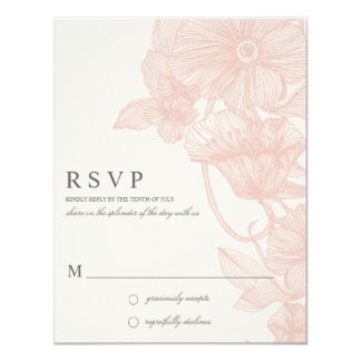 VINTAGE GARDEN | R S V P 4.25X5.5 PAPER INVITATION CARD