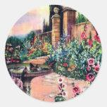 Vintage Garden Rain Stickers