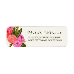 Vintage Garden Return Address Labels