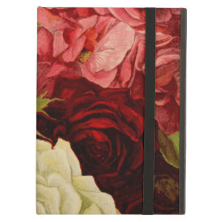 Vintage Garden Rose Flowers Love and Romance iPad Folio Cases
