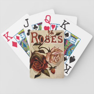 Vintage Garden Roses Bicycle Playing Cards