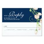 Vintage Garden Roses on Blue - RSVP Card