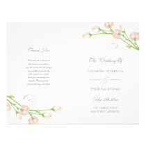 Vintage Garden Roses - wedding program
