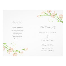Vintage Garden Roses - Wedding Program at Zazzle
